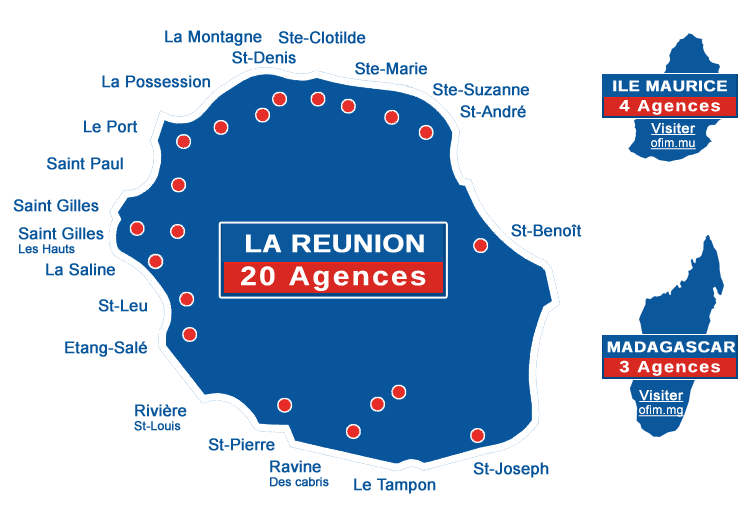 Ofim immobilier r union 974 gestion location vente for Agence immobiliere 974 reunion