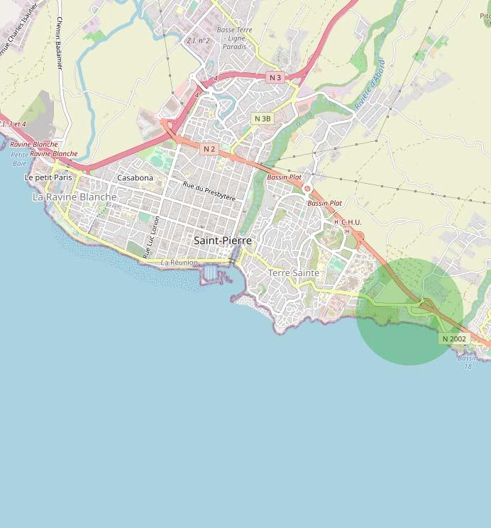 Terre Rouge est un quartier situé à l'Est de Saint-Pierre.