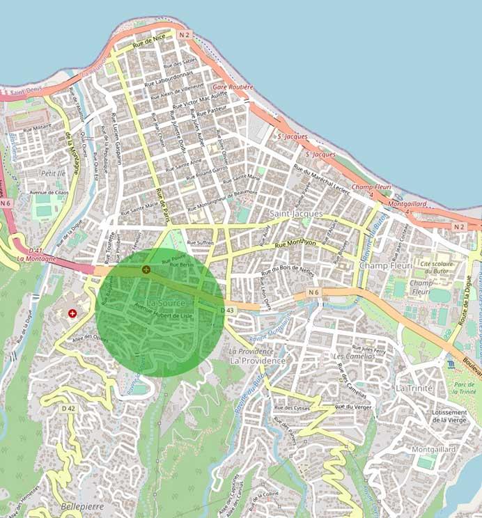 Saint-Denis immobilier dans le quartier de la SOurce, plus de 67% d'appartements pour 33% de maisons avec plus de 23% de logements sociaux
