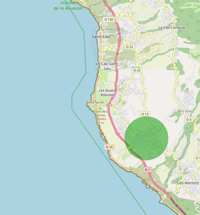 Lieu dit Piton Saint Leu île de la Réunion.