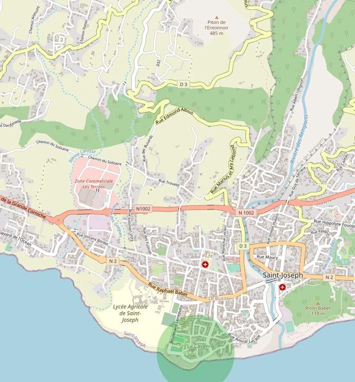 Cayenne Saint Joseph île de la Réunion.