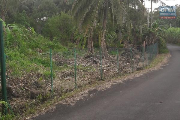 A vendre terrain de 4121 m2 viabilisé à bois de nèfles st paul avec vue mer .