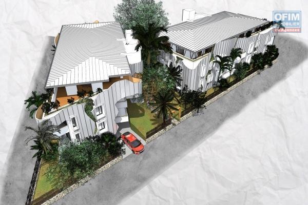 Défiscalisation PINEL 2019 pour un appartement T3 de 79.23 m² avec varangue et pleine vue mer au premier étage.