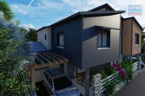 A vendre villa jumelée en défiscalisation de type 4 de 122,72 m2 sur la possession.