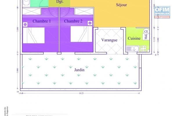 A Louer Jolie Appartement de type T4  dans une petite résidence sécurisée proche centre ville