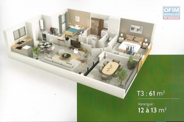Appartement T2 en VEFA à Terre Sainte en cours de construction à 100 m de la plage et du vieux port.
