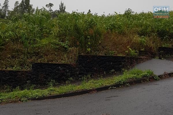 à vendre très beau terrain plat de 1206 m2, dans un lotissement calme proche du centre ville, avec vu sur les pitons, à la plaines des palmistes.