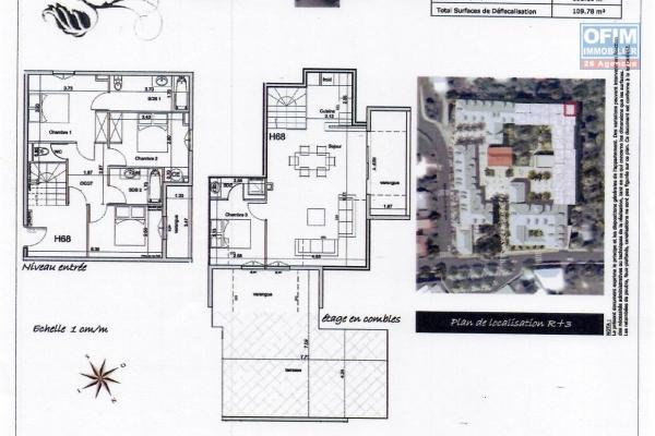 A saisir beau T5 duplex résidence de la vanille Saint André