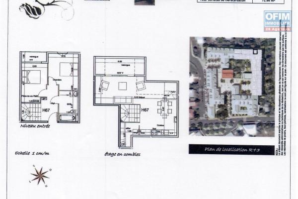 A saisir beau T3 duplex résidence de la vanille Saint André