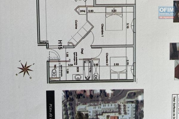 A louer T3 en plein centre ville de SAINTE ANDRE