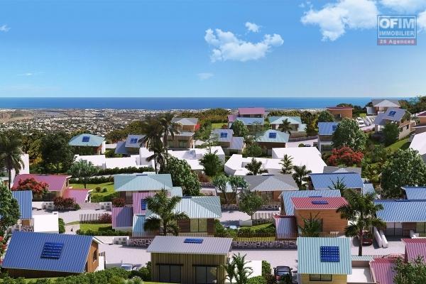 a vendre parcelle de terrain de 300 m2 viabilisée vue mer la possession Pichette