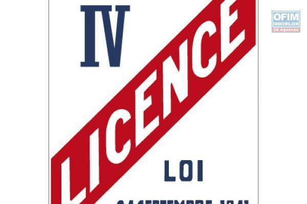 A louer Licence IV sur Saint-Pierre, Licence 4